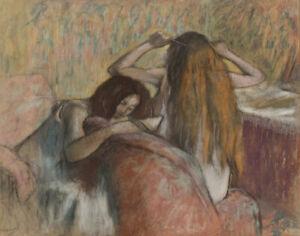 Edgar Degas Woman Styling Her Hair Canvas Print 16 x 20   #4060