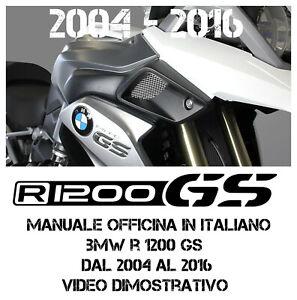 MANUALE OFFICINA IN ITALIANO BMW R 1200 GS e ADV 2004 AL 2016 SOLO VIA EMAIL