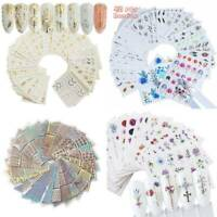 Mixed Styles Various 3D Flower Water Transfer Decal Stickers For Nail Art Decor