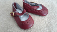 Burgundy Scalloped Toe Doll Shoes Fits American Girl New