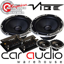 "Vibe Blackair63C-V6B 780 Watts a Pair 6.5"" 3 Way Component Kit Door Car Speakers"
