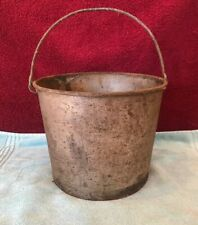 Vintage Small Metal Bucket Used More For Display
