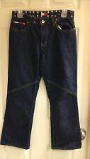 Tommy Hilfiger, Junior girls Size 7, Jeans, Dark wash, Studded, EUC
