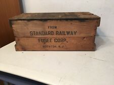Rare Vintage Fireworks Shipping Crate Standard Railway Fusee NYCS Tag #2