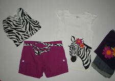 GYMBOREE WILD FOR ZEBRA CARDIGAN SWEATER TOPS SHORTS LOT GIRLS  9 10 SUMMER