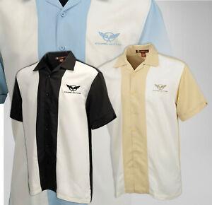 C5 Corvette Mens Two-Tone Bahama Camp Shirt 620436