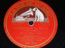 VIOLIN 3 x 78 rpm RECORDS VsA FRITZ KREISLER Concierto Re K. 218 MOZART Sargent