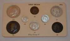 More details for 1916 king george v 8 coin collection set farthing to half crown