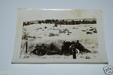 Vintage Black & White 1930s Car Wreck PACKARD Old Fashioned Car Photo Photograph