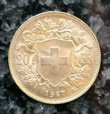 Goldmünze VRENELI 20 Schweizer Franken 6,45 Gramm 900/1000 Gold