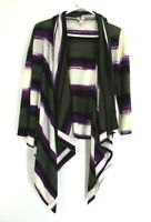 Worthington Women's Large Long Sleeve Striped Open Front Sweater Cardigan