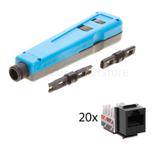 110/66 Punch Down Impact Blade Tool LAN CAT5e Cable Keystone Jack Patch Panel