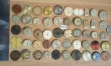#114/ 50 Vintage/Antique Clock Faces for Repair/Parts, Steampunk, Altered Art.
