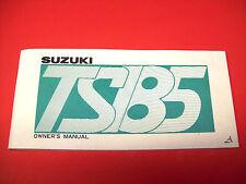 SUZUKI MOTORCYCLE OWNER'S MANUAL TS185 - 1975- CLASSIC/ ANTIQUE ORIGINAL