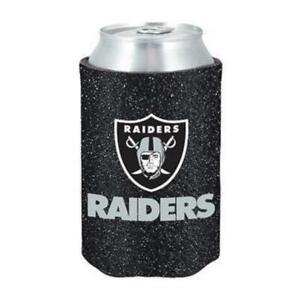 Oakland Raiders Glitter Can Coozie [NEW] NFL Womens Koozie Bling Drink Holder