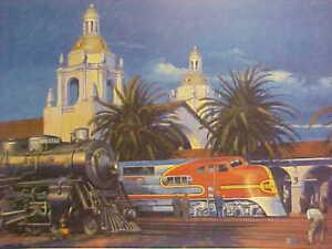 """Railroad Art, Winfield, Santa Fe""""TheNew Warbonnet at SD"""",18X24"""" s/n(0460)"""