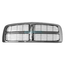 New Grille Chrome Frame With Painted Bars Fits 2002-05 Dodge Ram 1500 CH1200261