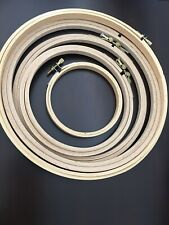 Wood Embroidery Hoops, Set Of 5: 4�-9�