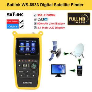 """Satlink WS-6933 2.1""""LCD FTA HD DVB-S2 Satellitensignalfinder SAT 950~2150MHz!"""