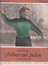 Zeitschrift Modische Pullower & Jacken Herbst / Winter 1970 Schnittmuster !