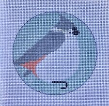Tufted Titmouse Ornament Hand Painted Needlepoint Canvas