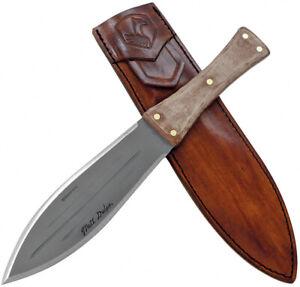 Condor African Bush Fixed 1075HC Steel Spear Pt Full Tang Knife w/ Sheath 280773