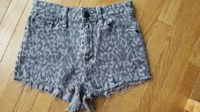 Urban Outfitters BDG High Rise Cheeky Short Shorts Size 26 Grey Leopard Print