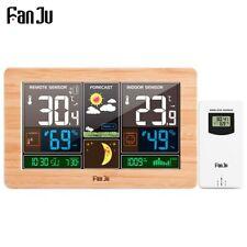 FanJu FJ3378 Digital Alarm Clock Weather Station Outdoor Temperature Humidity