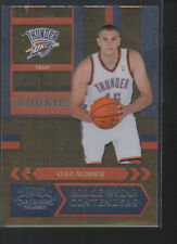 COLE ALDRICH 2010-11  CONTENDERS PATCHES ROOKIE OF YEAR  CONTENDERS CARD #8