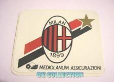 VECCHIO ADESIVO / Old Sticker CALCIO FOOTBALL MILAN MEDIOLANUM (cm 9x7)