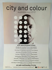 CITY AND COLOUR 2013 Australian Tour Poster ALEXISONFIRE Hurry & The Harm ***NEW