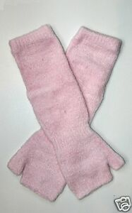 Chenille Microfiber Fingerless Soft Pink Gloves One Size NWT Warm Soft and Cozy