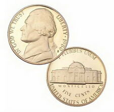 1980 S US Mint Jefferson Proof 5 Cent Nickel Coin