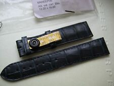 GENUINE CARTIER WATCH STRAP BAND NAVY BLUE ALLIGATOR LEATHER 18 x 16 mm NEW