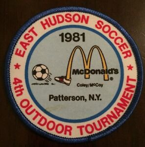 1981 East Hudson 4th Outdoor Tournament Soccer Patch Patterson NY