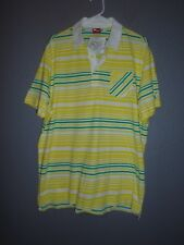 Puma dryCell CleverdryTechnology Multi-color Stripe Jersey Polo SS SHIRT  XL NWT