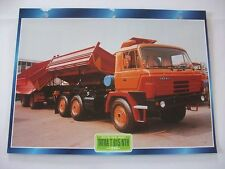 CARTE FICHE CAMION TRACTEUR CABINE AVANCEE TATRA T 815 NTH 1980
