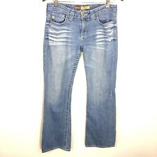 Big Star Remy Boot Cut Low Rise Fit Light Wash Distressed Jeans Women's Size 28R