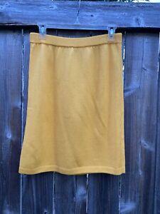 St John Collection Golden Yellow Santana Knit Skirt Sz 8