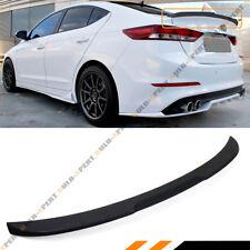 For 2017-18 Hyundai Elantra Sedan KDM Matt Black H Style Trunk Lid Spoiler Wing