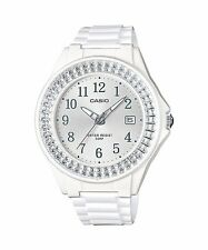 LX-500H-7B2 White Casio Ladies Watches Resin Band 50M Analog Date Brand-New
