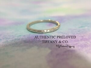 Excellent Authentic Tiffany & Co. Paloma Picasso Hammered Silver Ring Size 8.5