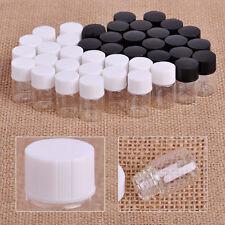 20x 2ml Clear Glass Empty Vials with Plastic Screw Lid Essential Perfume 15x25mm