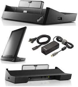 New Lenovo ThinkPad Tablet Docking Station 0A33965 /w 65W Power Supply Genuine