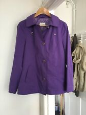 M&S Size Uk 10 Purple Raincoat With Hood.  (a8)