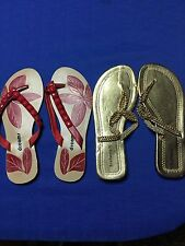 Flip Flops Size 8 Royal Footwear Dreams Summer Pool Sexy Lot Of 2 Pairs Sandals