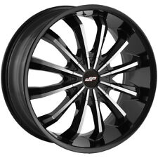 "Dip D40 Fusion 24x9.5 5x115/5x120 +18mm Black/Machined Wheel Rim 24"" Inch"