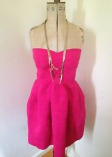 Ladies QED London Hot Pink Prom Party Cocktail Dress UK 10