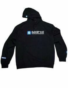 Sparco WWW Hoodie Pullover Sweatshirt Black SP03100NR Genuine X-LARGE