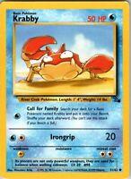 1999 Basic Pokemon Krabby 51/62 Common Rarity Fossil Set Card Water